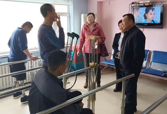 吉林省农安县残联领导到访长春恩德莱02