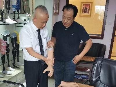 中国残疾人福利基金会领导莅临恩德莱北京总部参观指导