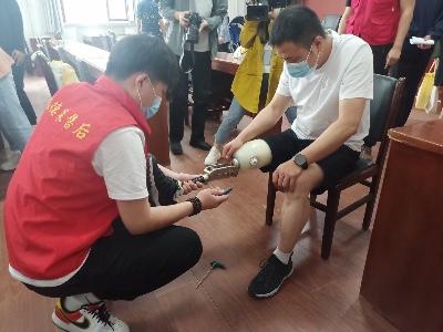 「恩德莱石家庄公司」高效率完成假肢配送工作,给残障朋友献温暖