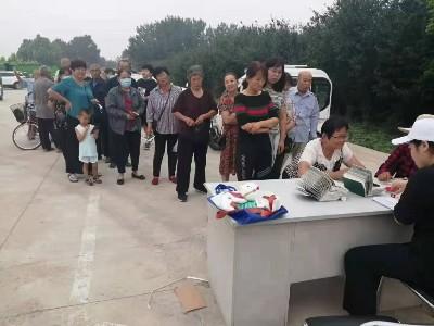 「恩德莱邯郸爱心店」扶贫助残,在廊坊市为残疾人发放辅具